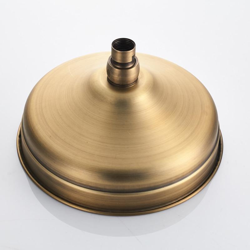 Античная латунная круглая 8-дюймовая дождевая насадка для душа и удлинитель, настенный кронштейн, душевая ручка, аксессуары для ванной комн...