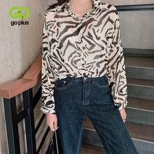 Женские винтажные блузки goplus рубашка в Корейском стиле топы