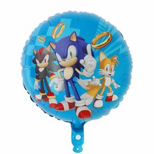 10pcs/lot 18inch Sonic Hedgehog Foil Balloon Balloon Happy Birthday Party Supplies Toys