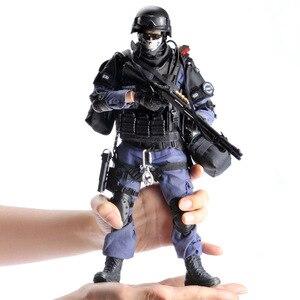 Image 1 - PATTIZ High end simulation 1/6 Skala Military Solider SWAT angriff hand soldat Set modell Figuren Montieren spielzeug für Kinder
