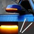 2 шт. Автомобильное зеркало заднего вида  сигнальная полоска  светильник  индикаторная лампа  стример  светильник 15 см  28SMD  светодиодный авто...