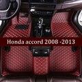 Кожаные автомобильные коврики в салон для Honda accord 2008 2009 2010 2011 2012 2013 Пользовательские Авто накладки на ножках не оставят автомобильный коврик...