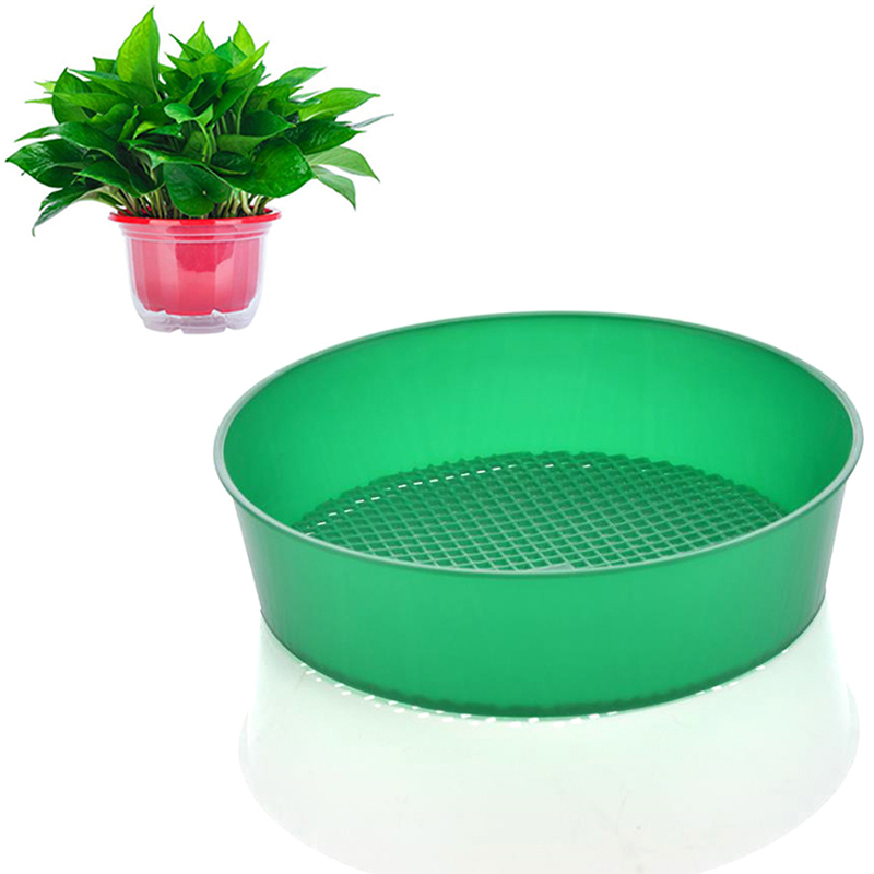 2 IN 1 Heavy Duty Garden Riddle Riddler Soil Sift Compost Sieve Seed Tray Mesh