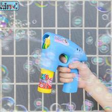Мультяшный пистолет для стрельбы мыльными пузырями водяной пистолет пузырьковая машина для улицы забавные гаджеты Новинка интересные игрушки для детей подарок на день рождения