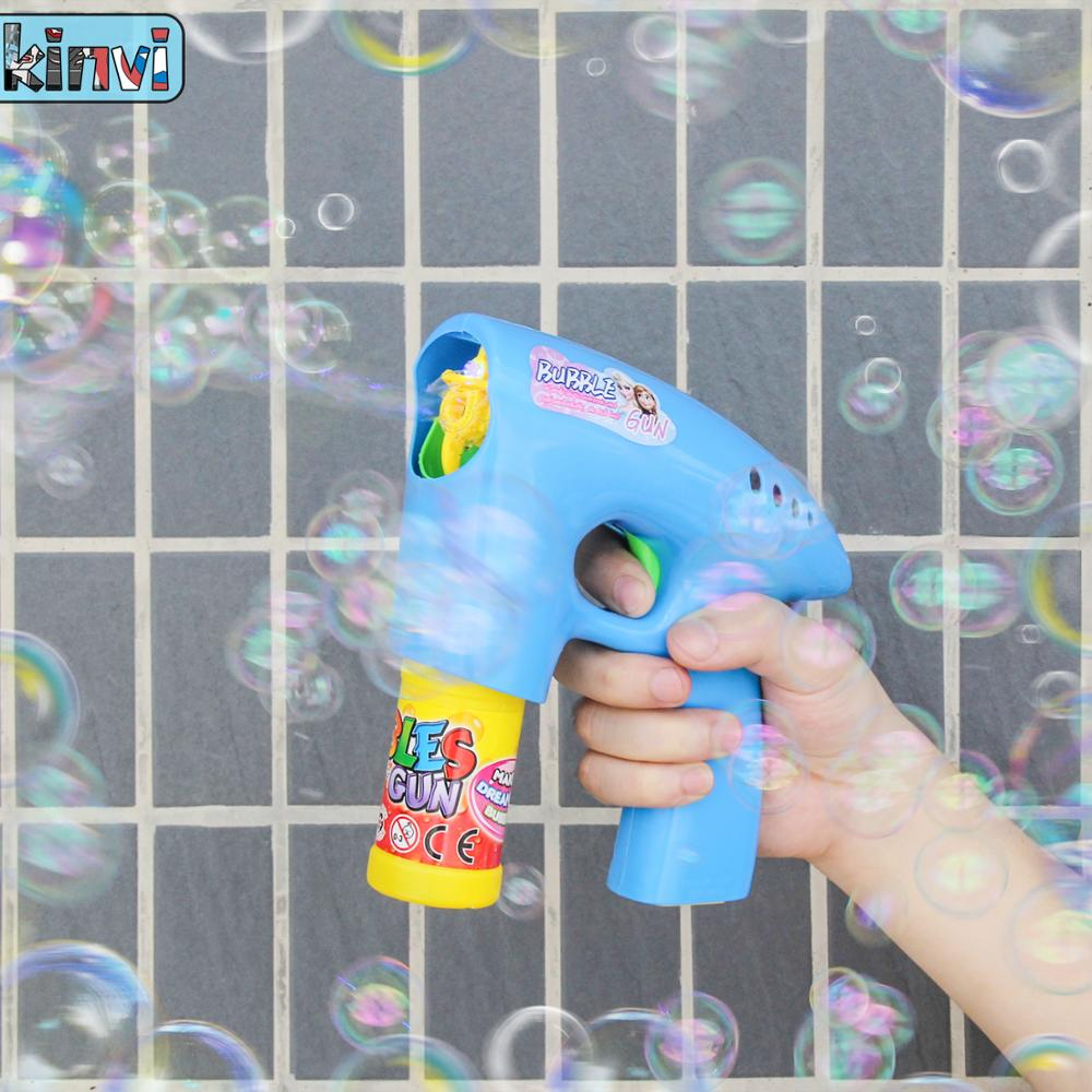 New Cartoon Bubbles Gun Water Gun Bubble Machine Outdoor Fun Funny Gadgets Novelty Interesting Toys For Children Birthday Gift