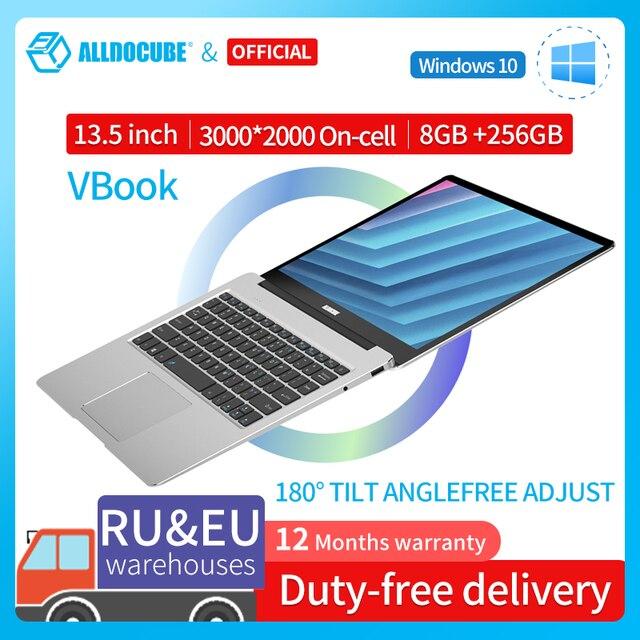 ALLDOCUBE VBook 13.5 inch Notebook Intel Apollo Lake Processor 8GB RAM 256GB SSD Windows10 Laptop 3000*2000 IPS 2
