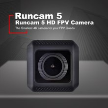 RunCam 5 12MP 4K Cam HD Recording 145 Degree NTSC/PAL 16:9/4:3 Switchable FPV Action Camera Mini Cam for RC Drone Accs