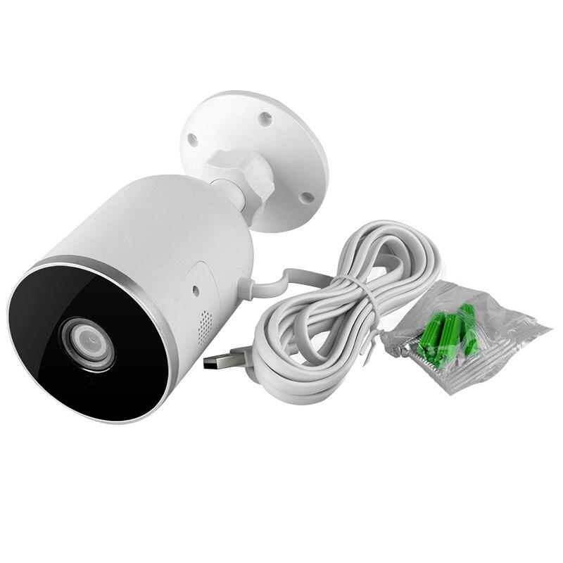 Caméra intelligente Wifi Ip extérieure Ip66 étanche sans fil 1080P Audio bidirectionnel Tuya vie intelligente capteur de mouvement prise ue