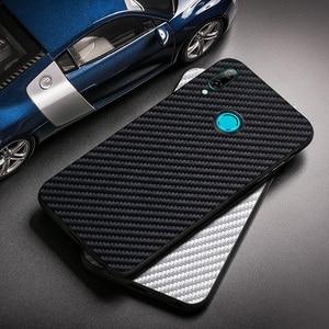 Carbon Fiber Case For Huawei P Smart 2019 2018 Z Case Silicon Huawei Nova 5T 3 3i 5i 5 4 Mate 10 20 30 Lite Pro Enjoy 10S Covers