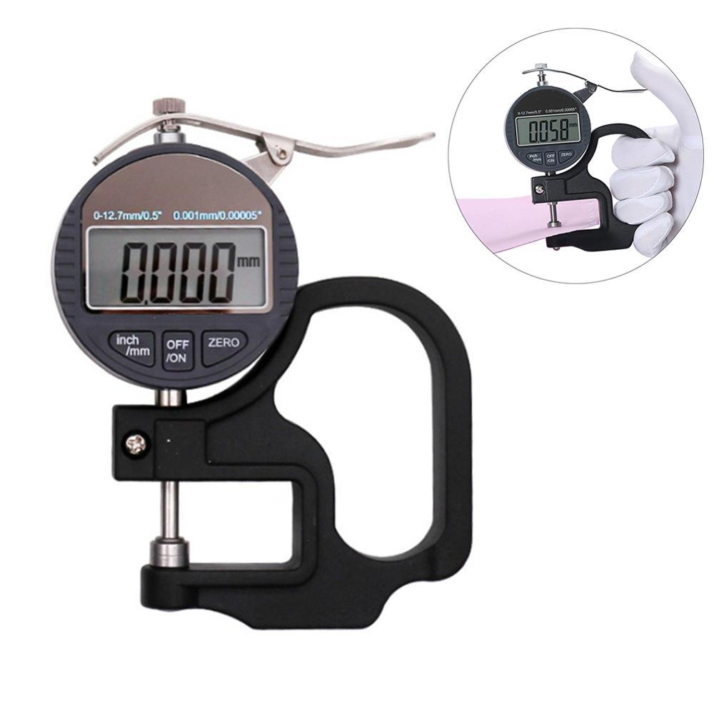 Electronic Digital LCD Outside Micrometer 12.7mm 0.01mm Measuring Gauge Tool NEW