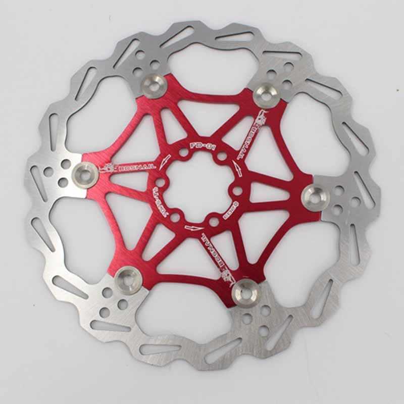 Rotor de frein de vélo vtt VTT Super Dissipation thermique disque flottant 160/180/203mm Six clous disque de frein vélo frein Rotor