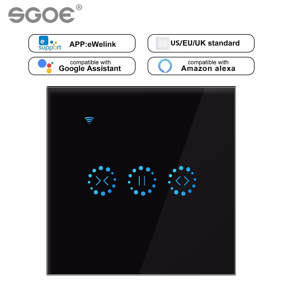 Ewelink /Tuya / Ewelink Smart Life WiFi Curtain Switch Blind For Roller Shutter Electric Motor Google Home Alexa Voice Control S
