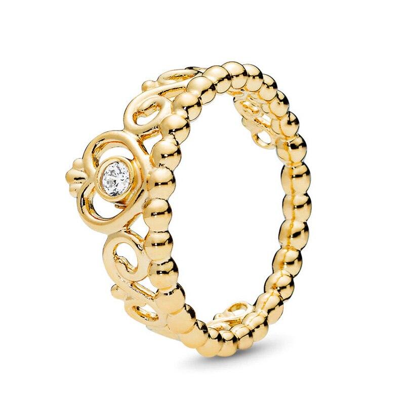Кольцо на палец в форме сердечко серебряного цвета для женщин, европейская оригинальная Корона, изящные кольца на палец, свадебные украшения, 50 стилей, Прямая поставка - Цвет основного камня: Rings 013