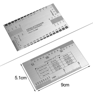 Image 3 - Juego de Herramientas de medición de diapasón de guitarra bmdt diapasón con 4 medidores de radio con muescas, 9 medidores de radio y acción de cuerdas