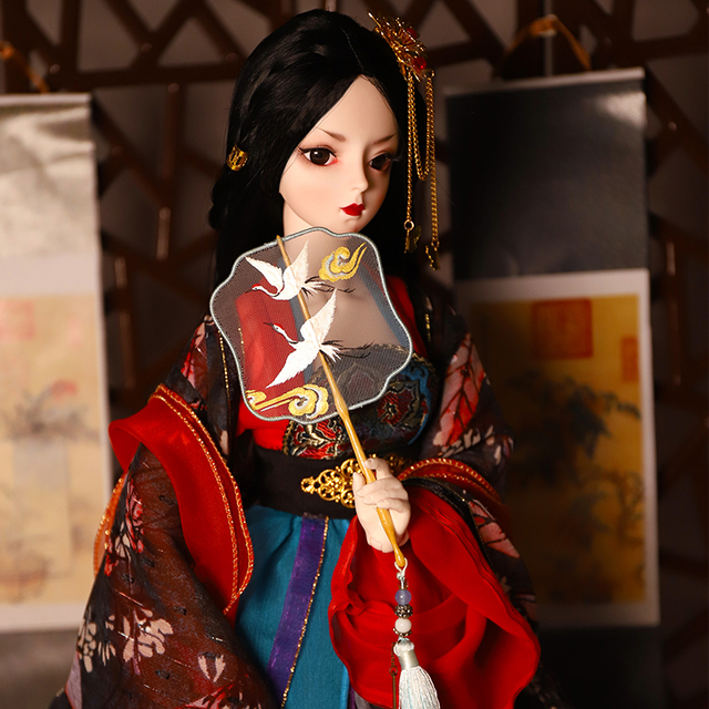 DBS 1/3 bjd 62cm body articulado vestido y zapatos para muñeca tocado Hada de los sueños SD