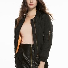 New black women bomber jackets 2019 fashion ladies slim pilot coats streetwear g