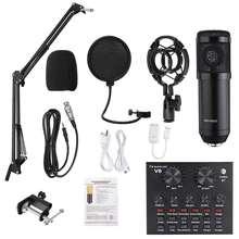 BM800 Pro Mikrofon Mischer Audio dj MIC Ständer Kondensator USB Wireless Karaoke KTV Professionelle Aufnahme Live Bluetooth Soundkarte