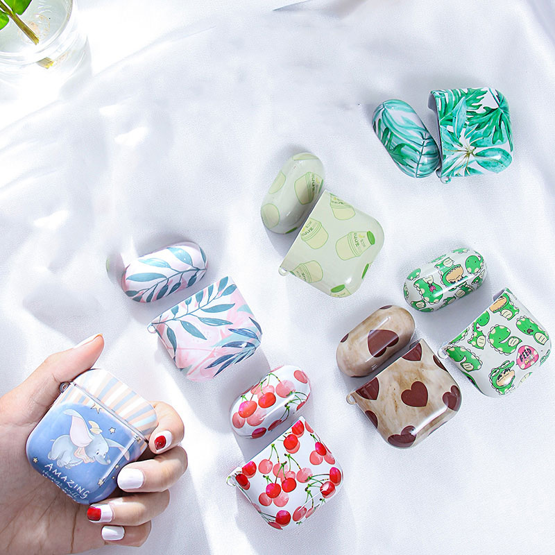 Hard PC Case For Apple Airpods Case Painted Cute Earphone Cover For Airpods Accessories Headphone Air Pod Case Box Coque Pattern
