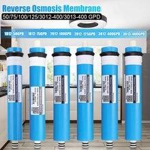 Casa cozinha osmose reversa ro membrana substituição sistema de água filtro purificador água potável tratamento 50/75/100/125gpd