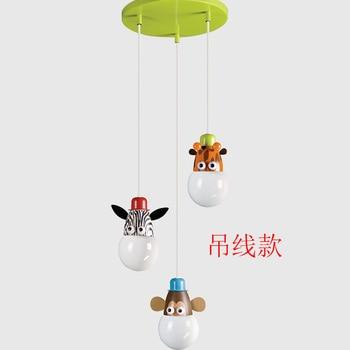 modern children's room cartoon Monkey zebra ceiling light for bedroom lamp