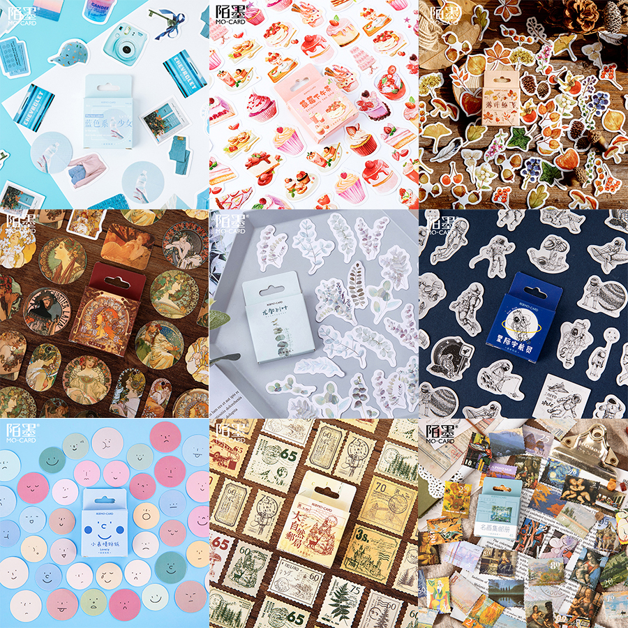 Multiple Style  Series Aesthetic StyleDecoration DIY Ablum Diary Scrapbooking Label Bullet Journal Stickers