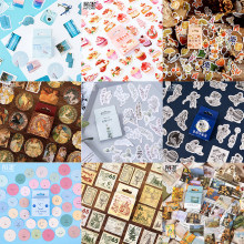 Série de Style Multiple Style esthétique décoration bricolage Ablum Journal Scrapbooking étiquette balle Journal autocollants(China)