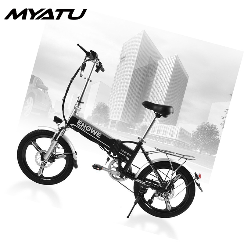 MYATU powerful Electric bike 20 inch Foldable Bicycle 48V8A battery 250W motor Mountain Snow power