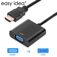 Kualitas Tinggi HDMI Ke VGA Male To Famale Converter Adaptor 1080P Digital Ke Analog Video Audio untuk PC laptop Tablet(China)