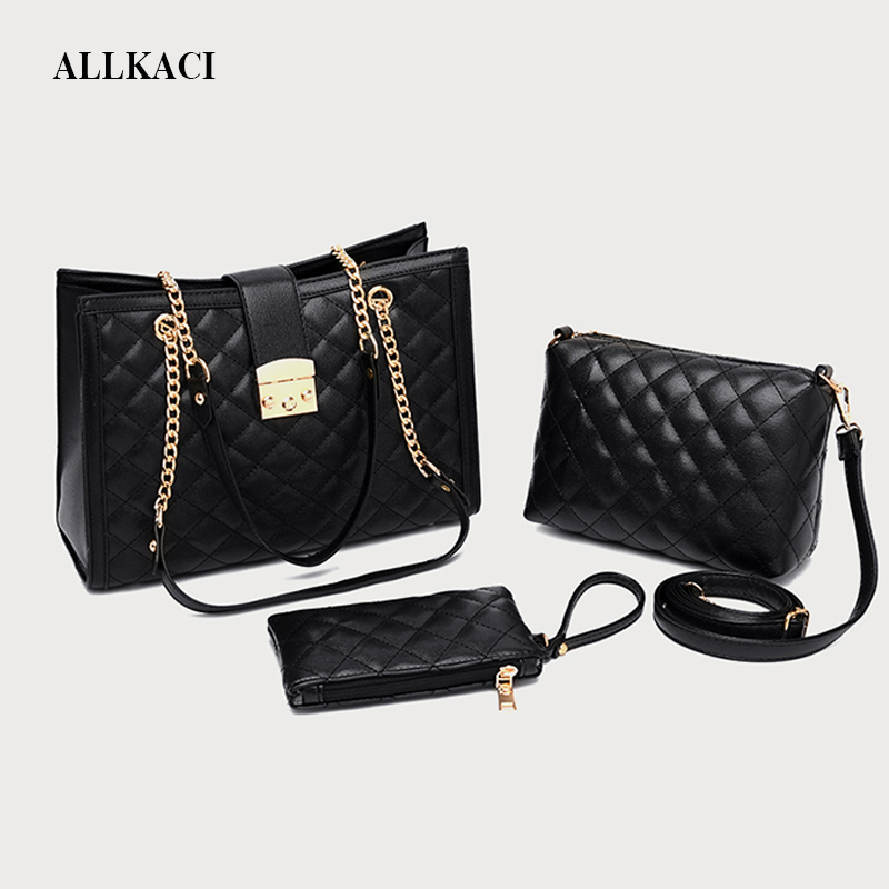 Famous Brand Luxury PU Leather Handbags 3pcs/set Shoulder Crossbody Bag for Women Casual Tote Messenger Bags Set Clutch Ladies55