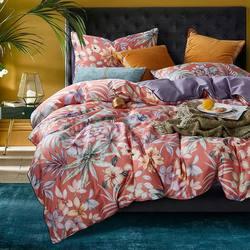 Juego de cama de algodón egipcio tamaño Queen juego de funda de edredón sábana plana funda de almohada