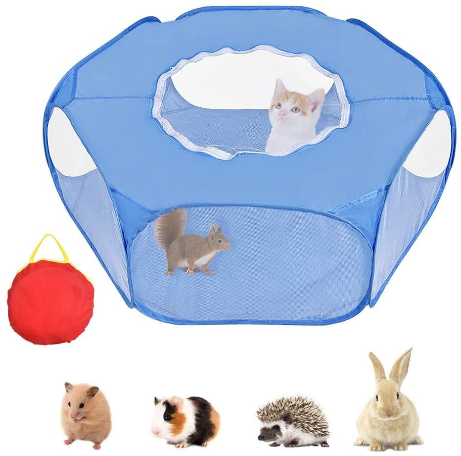 Маленькая палатка для домашних животных, манеж для домашних животных, открытая Крытая/уличная клетка, игровая площадка для кролика, хомяка, ...