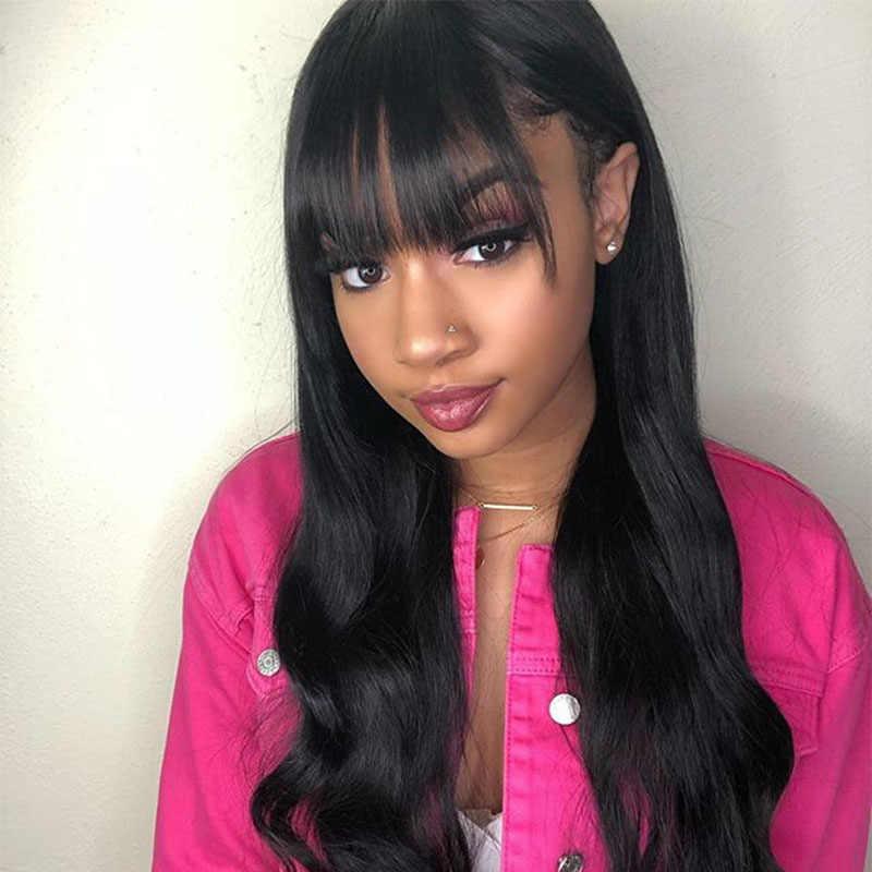 Brazylijski ludzki włos tępy grzywka klip w ludzkich włosów do przedłużania włosów naturalny czarny miód królowa 100% Remy produkty do włosów