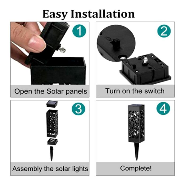 diodo emissor de luz luzes solares exteriores 04