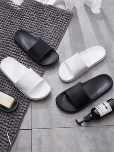 Men Slippers Shoes Couples Flip-Flops Slides Bathroom Black White Summer Women Indoor