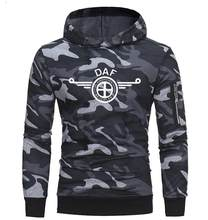 High Quality 2019 Brand Camo Men DAF Truck Car Brand Logo man Coat SCANIA Hoodies & Sweatshirts Hoodies Camo Jacket Coat(China)