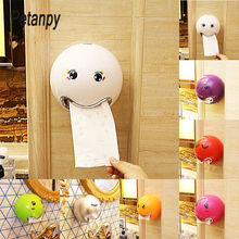 1pc Cute Emoji Ball Shaped Tissue Paper Holder Creative Toilet Roll for  Bathroom Wall Kitchen Storage Organizer