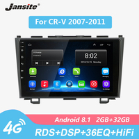 Jansite 4G Wifi RDS 9 Car Radio Android For Honda CR V 2007 2011 HIFI 2G+32G Touch screen multimedia video players with Frame