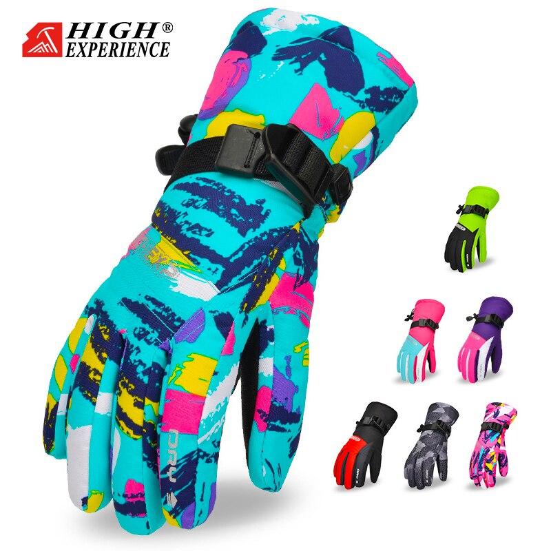 Winter Boys's Snowboard Gloves Ski Gloves For Kids Waterproof Mittens Winter Girls's Gloves Thermal Gloves Ski Mittens Girls
