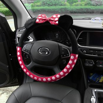 hotest Car Styling Bow Car Steering Wheel Cover cute Cartoon Universal Interior Accessories Set Women/man 16designs car covers