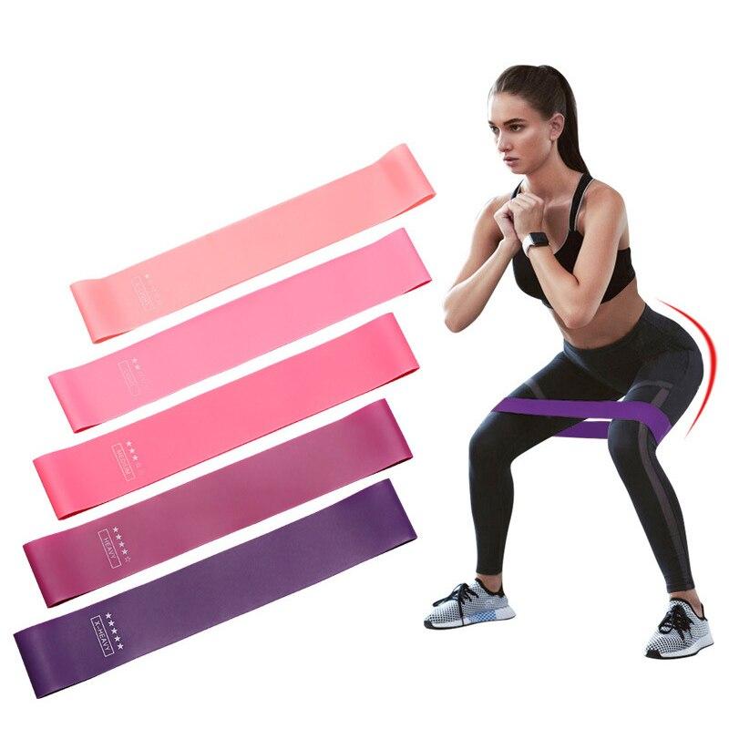 5 pçs bandas de resistência conjunto elástico treinamento borracha booty bandas treino expansor fita para yoga pilates fitness hip gum glute banda