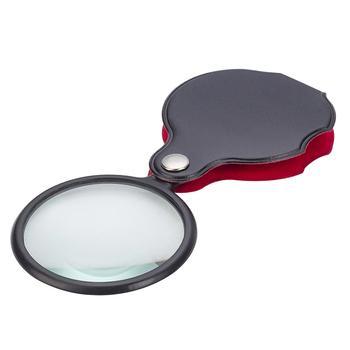 Mini lupa 8x składana lupa kieszonkowa przenośna 50mm biżuteria czytanie szkło powiększające lupa tanie i dobre opinie xinxiang CN (pochodzenie) NONE Ręczny Brak Z tworzywa sztucznego