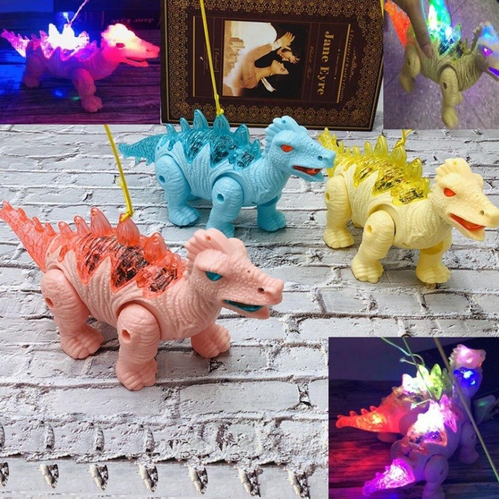 Dinosaur Toys Model Electric Pets Leash Dinosaur With Light Music Walking Doll Pull Dinosaur Children Gifts M1124