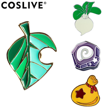 Xcoser Animal Crossing  New Horizons Brooches Zinc Alloy Cosplay Bandage Game Replica Jewelry Collections
