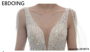 Image 5 - Sang Trọng Bầu Áo Cưới Vestidos De Novia Hoàng Gia Tàu Mới Nhất Dài Plus Kích Thước Cô Dâu Đầm Váy Cưới Cô Dâu Đầm