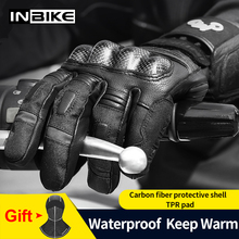INBIKE Winter Gloves Motorcycle Waterproof  Warm Motorbike Gloves Gear Protection Thermal Fleece Men Motorcycle Windproof Gloves