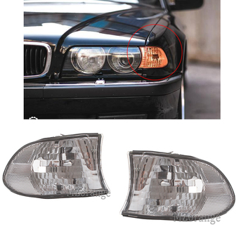 for BMW E38 7-Series 740i 740iL 750iL 1999 2000 2001 Corner Lights Side marker Light Turn Signal Clear Lens lamp image