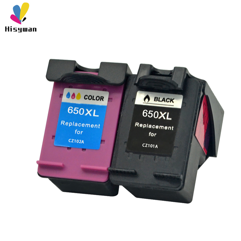 Hisywan 650XL ink cartridge For <font><b>HP</b></font> 650 Deskjet 1015 1515 2515 2545 2645 <font><b>3515</b></font> 4645 Printer For hp650 CZ101A CZ102A image