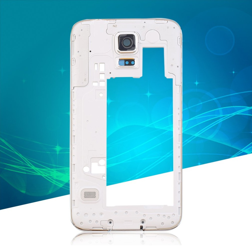 Replacement Middle Bezel Back Frame Housing Cover For <font><b>Samsung</b></font> <font><b>Galaxy</b></font> <font><b>S5</b></font> i9600 <font><b>G900F</b></font> G900H Mobile Phone Parts And Accessories image