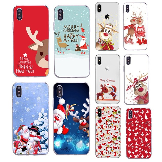Vrolijk Kerstfeest Case Voor Xiaomi Redmi Note 9S 9 Pro Max 8 8A 9A 6A Silicone Cover Soft Voor iphone 11 Pro Max 6 7 8 Se 2020 Capa