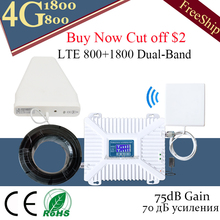 Europe 4G Booster LTE 800 B20 1800 B3 Dual Band Mobile Signal GSM Cell Phone Cellular Repeater